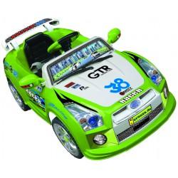 Dvoumotorové elektroauto GTR s přípojkou MP3 a DO, zelené