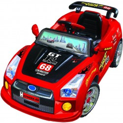 Dvoumotorové elektroauto GTR s přípojkou MP3 a DO, červené