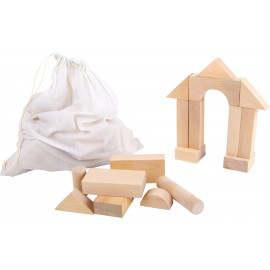 Dřevěná stavebnice Velké stavební kostky, 50 ks