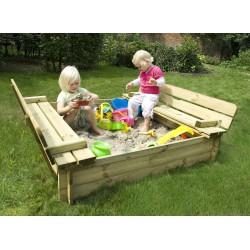 Dřevěné pískoviště s lavičkou / krytem Sandy Park