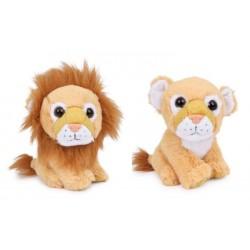 Plyšový lev 17 cm, 2 ks v balení (lev a lvice)