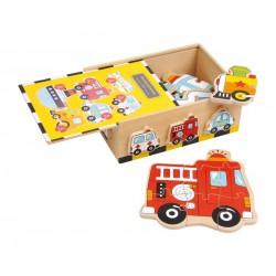 Puzzle-Box Vozidla, 6 puzzle v balení