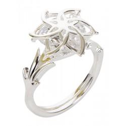 NENYA stříbrný prsten se zirkonem