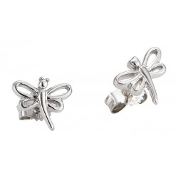 Stříbrný náhrdelník + stříbrné náušnice, motziv Vážka