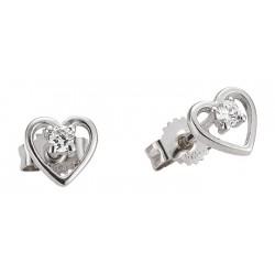 Sada 2 stříbrných šperků pro nejmenší Náhrdelník + náušnice, motiv Srdce