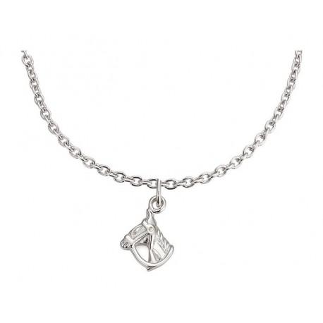 Stříbrný náhrdelník s přívěskem Koňské hlavy