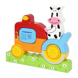 Dřevěná skládanka Kráva puzzle