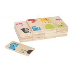 Dřevěné domino Spojujeme zvířátka