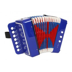 Tahací harmonika Akordeon modrý