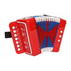 Tahací harmonika Akordeon červený