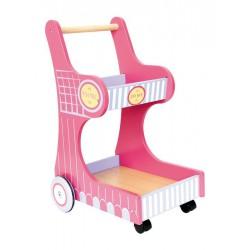 Dřevěný Nákupní vozík Isa - Servírovací vozík
