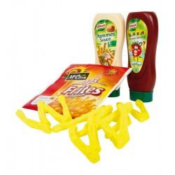 Doplněk do kuchyňky/obchodu Potraviny - Hranolky + kečup + omáčka