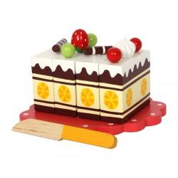Dřevěné potraviny - Narozeninový dort