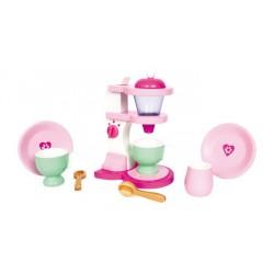 Dětský dřevěný Kávovar Emilia včetně nádobí