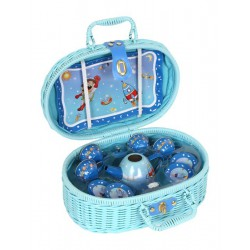 Piknikový koš kufr Astronautika modrý