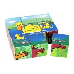 Puzzle ze 6 kostek - Farma