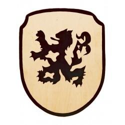 Dětský štít s dřevěným držadlem, různé motivy