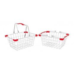 Kovový košík na nákupy a na kolo