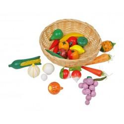 Ručně pletený košík se zeleninou