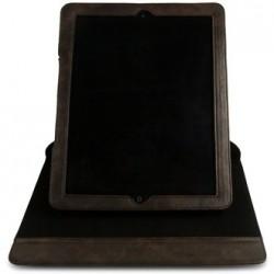 Pouzdro na iPad, kryt otočný s integrovaným stojánkem, hnědá umělá kůže Vintage