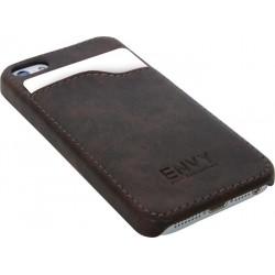 Pouzdro na iPhone, kryt kryt z hnědé umělé kůže, vintage