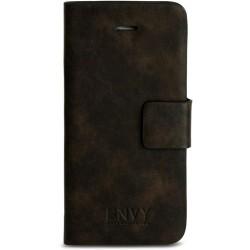 Pouzdro na iPhone 5 Flip Case z hnědé umělé kůže, vintage