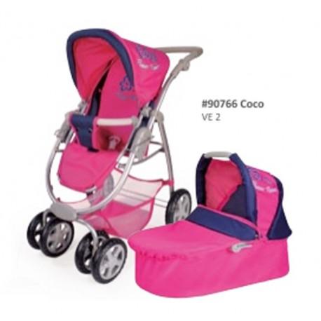 COCO kočárek pro panenky 2v1