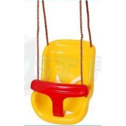 Plastová houpačka pro nejmenší Baby Swing, žluto-červená