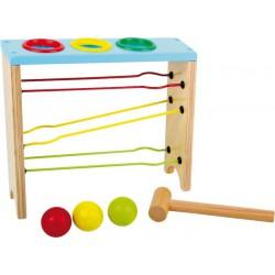 Zatloukačka kuliček s dráhou, barevná