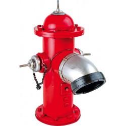 Červený požární hydrant - dekorace Vintage