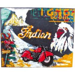 Plechová cedule motorka - dekorace Vintage 40 x 60 cm