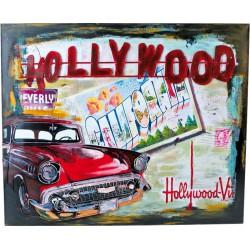 Plechová cedule Hollywood - dekorace Vintage 50 x 60 cm