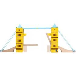 Dřevěná vláčkodráha - Hrací sada most Tower Bridge