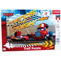 Puzzle v rámu 15 dílků motiv Cars