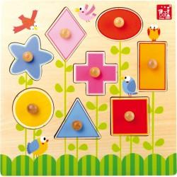 Dřevěné Puzzle tvary Louka