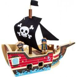 Dřevěná Stavebnice Pirátská loď 29 cm