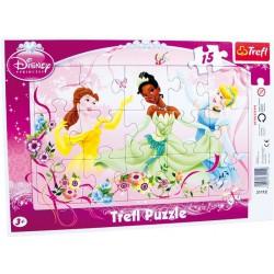 Puzzle v rámu 15 dílků motiv Princess
