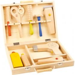 Kadeřnický kufřík, dřevěný