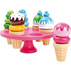 Dřevěné potraviny - Zmrzliny v kornoutku