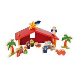 Vánoční dekorace - Jesličky barevné
