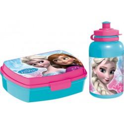 Svačinový box a plastová láhev Ledové království