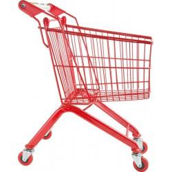 Dětský nákupní košík, červený kovový