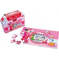 Třpytivé puzzle 50 dílů Minnie Mouse