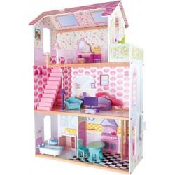 Dřevěný domeček pro panenky Villa