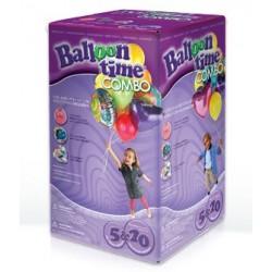 Helium s balonky COMBO 20+5, sada pro nafukování 30 balónků