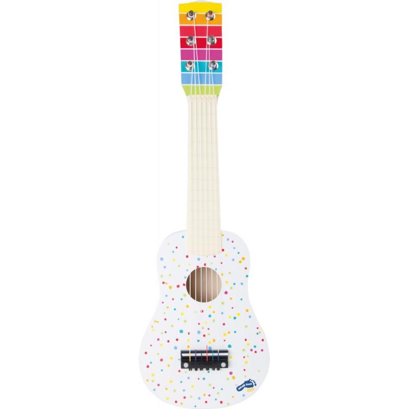 Dětská kytara bílá s puntíky 4b0a841894