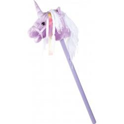 Skákací Jednorožec na tyči, fialový