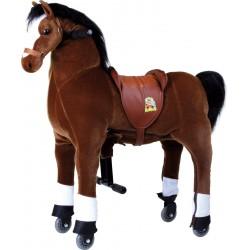 Pohyblivý jezdecký kůň na kolečkách Blesk, do 65 kg