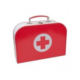 Doktorský kufřík včetně náčiní - poškozený kufřík