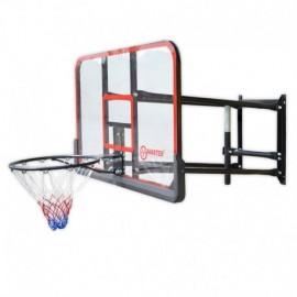 Basketbalový koš s deskou MASTER 127 x 71 cm s konstrukcí